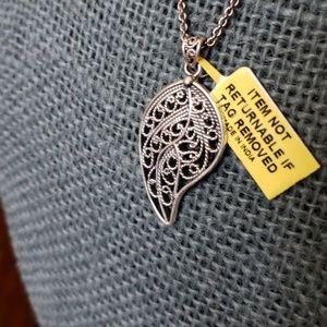 Sterling Silver Openwork Pendant & Chain